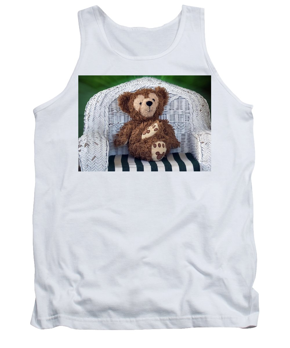 Fantasy Tank Top featuring the photograph Chilling Bear by Thomas Woolworth