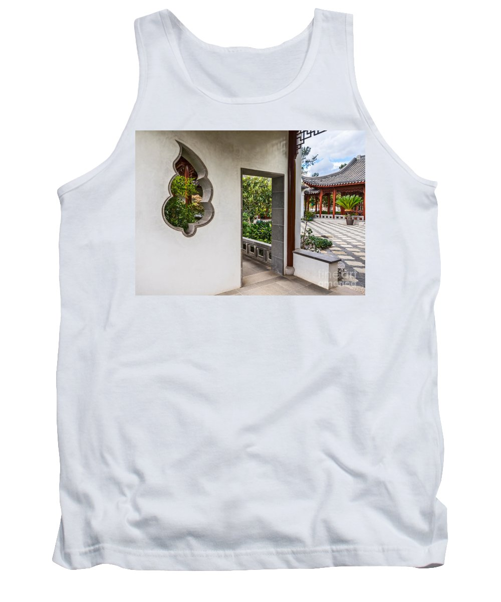 Chinese Garden Tank Top featuring the photograph Chinese Courtyard by Jamie Pham
