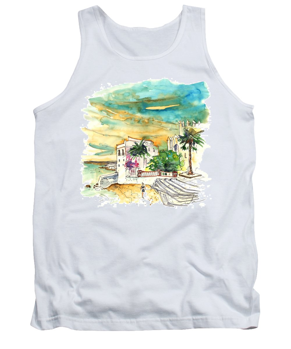 Travel Tank Top featuring the painting Chipiona Spain 04 by Miki De Goodaboom