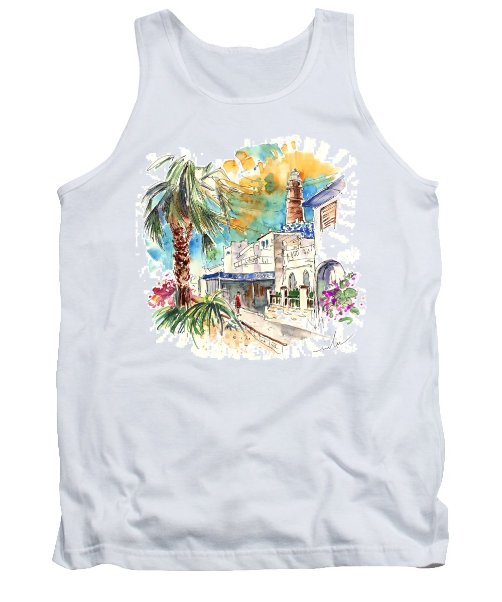 Travel Tank Top featuring the painting Chipiona Spain 05 by Miki De Goodaboom