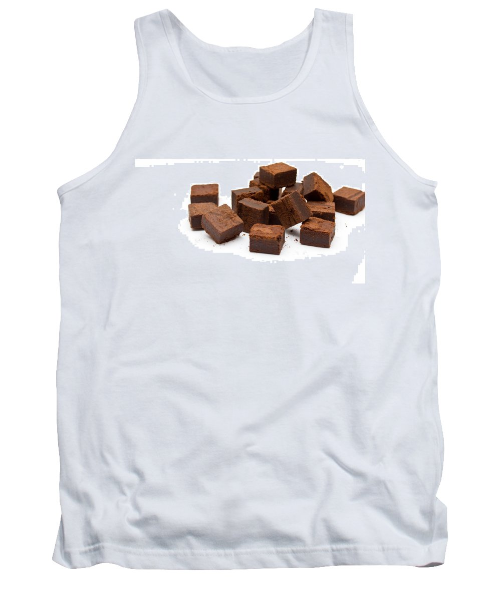 Isolated Tank Top featuring the digital art Chocolate Brownies by Mike Taylor