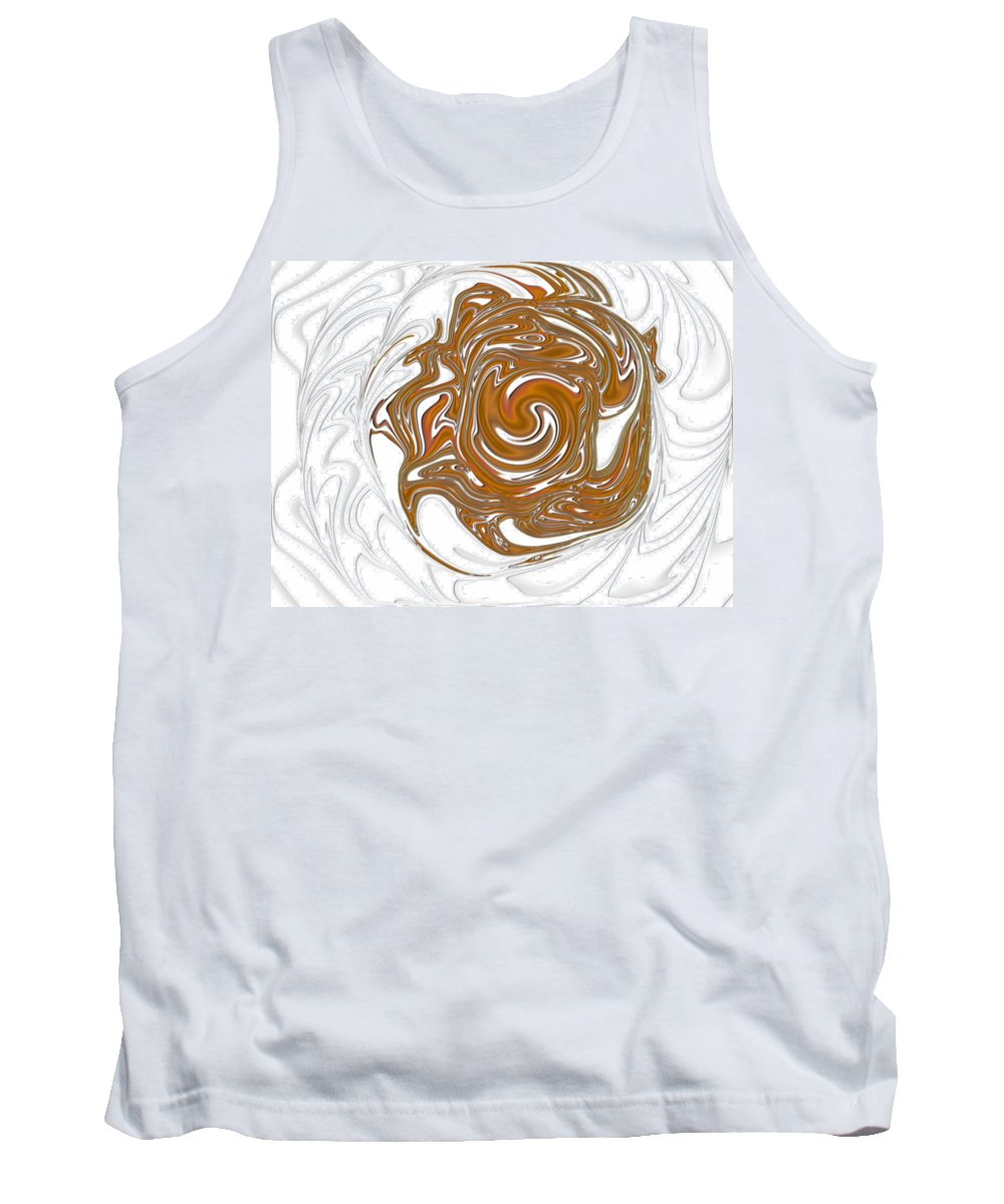 Swirl Tank Top featuring the digital art Chocolate Milk by Ron Hedges