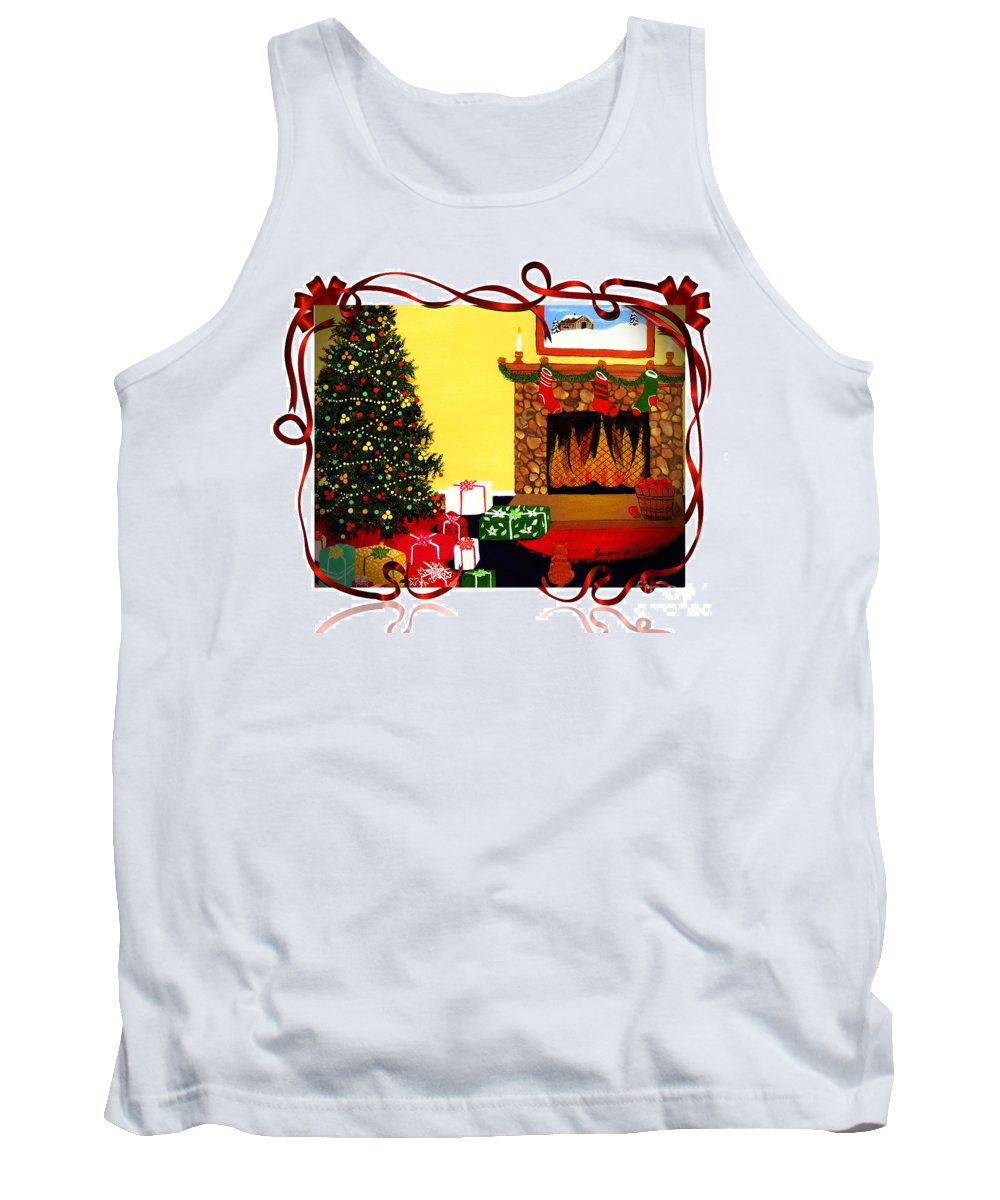 Christmas Tank Top featuring the painting Christmas - Memories - Ribbons - Bows by Barbara Griffin