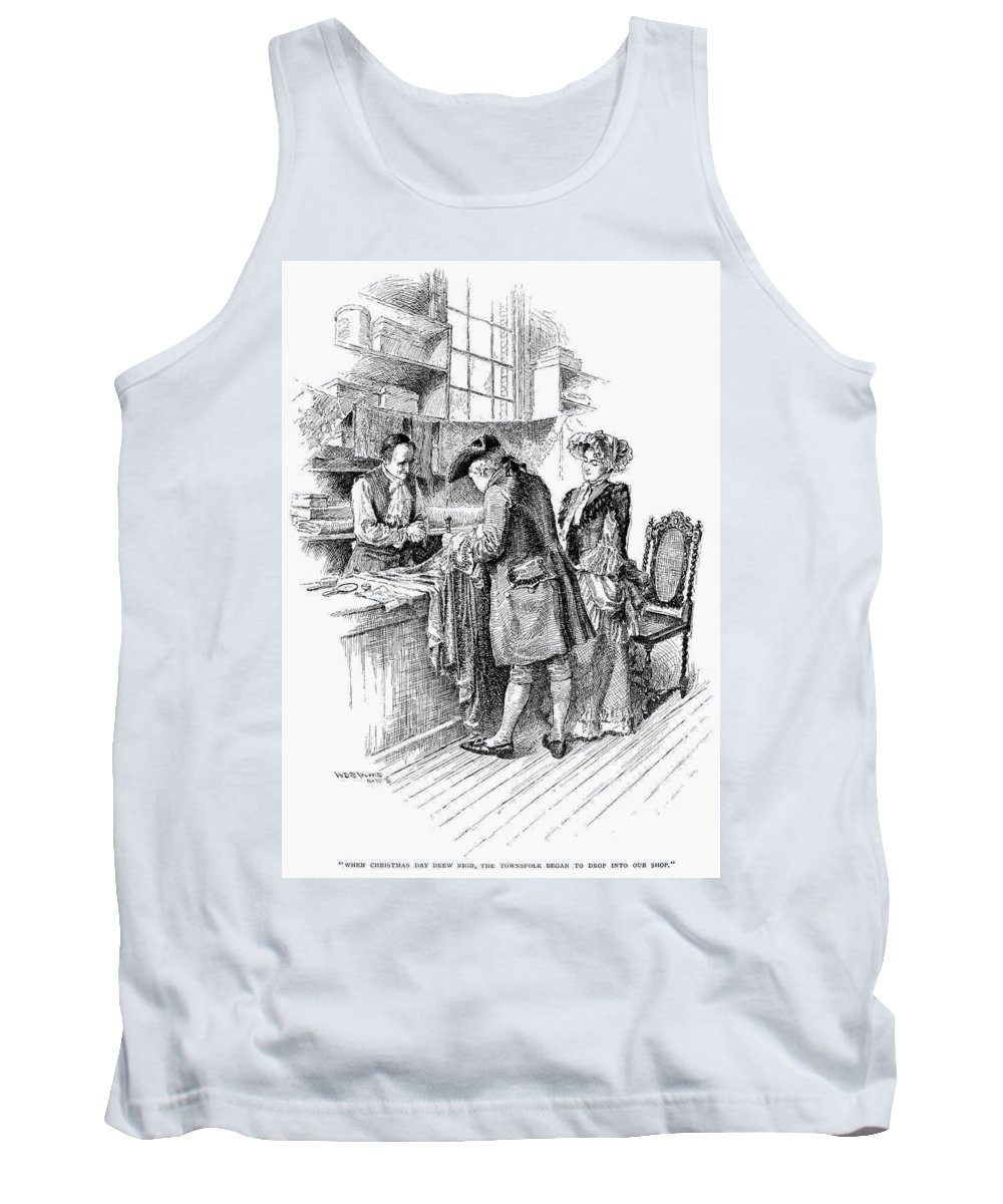 1750 Tank Top featuring the drawing Christmas Shopping, C1750 by Granger