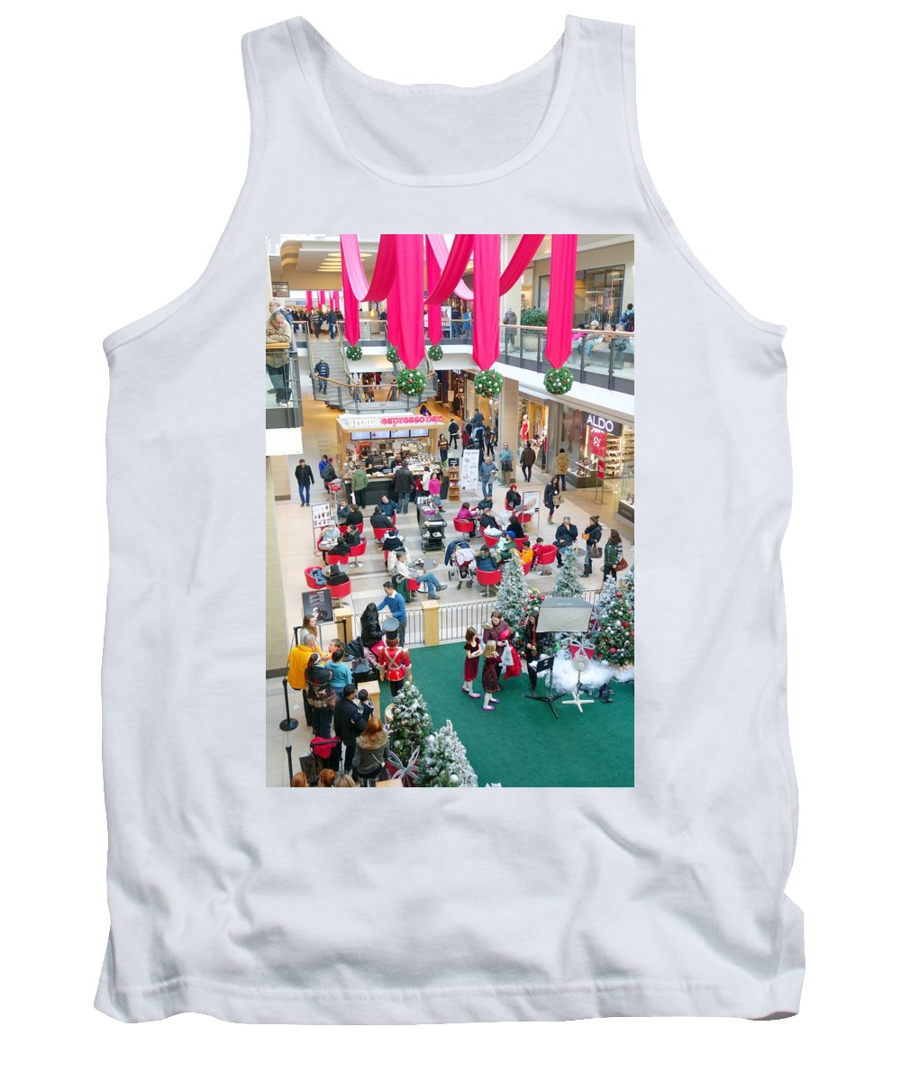 Shopping Tank Top featuring the photograph Christmas Shopping by Valentino Visentini