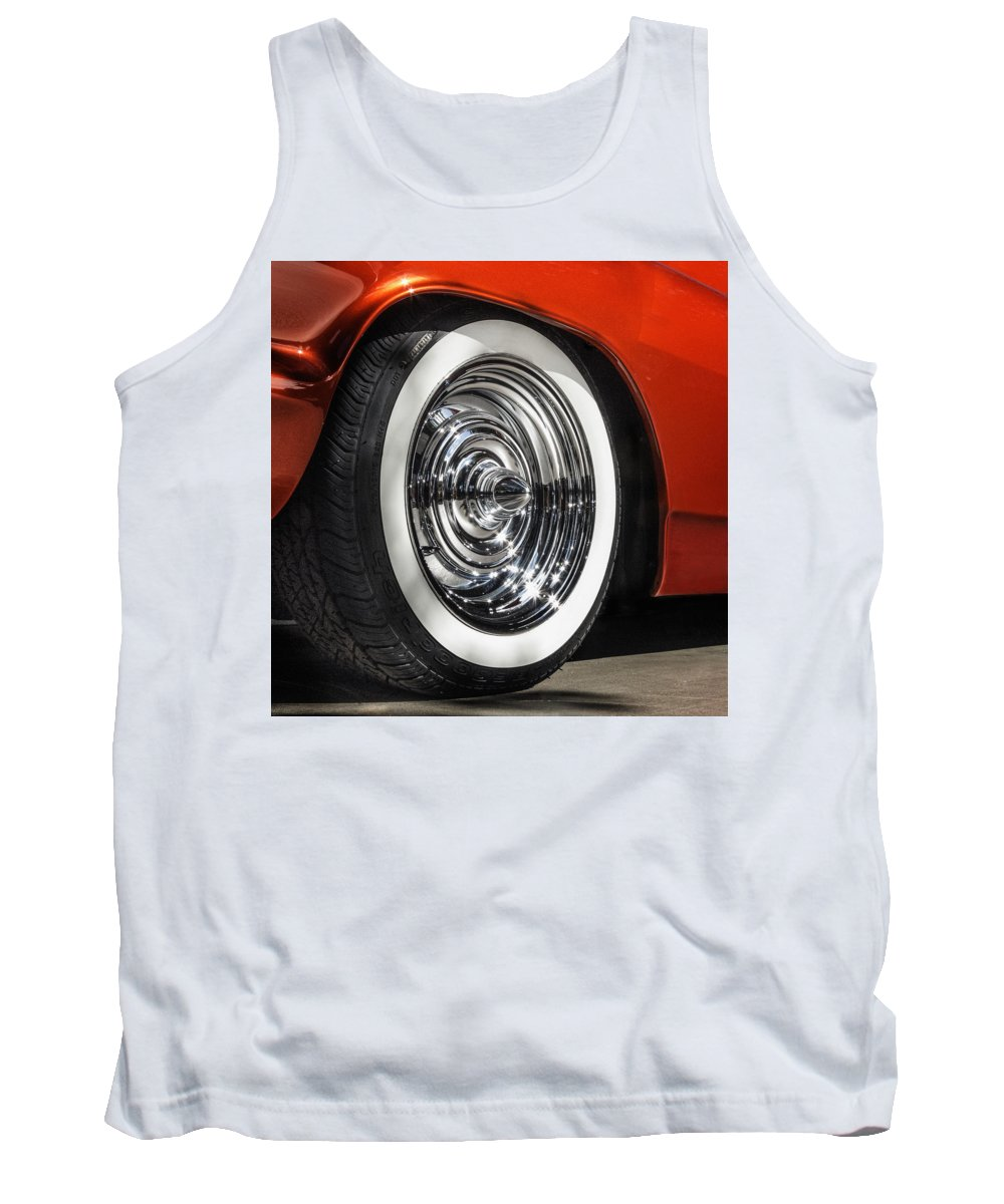 Sema Show Tank Top featuring the photograph Chrome Bullets by Gary Warnimont