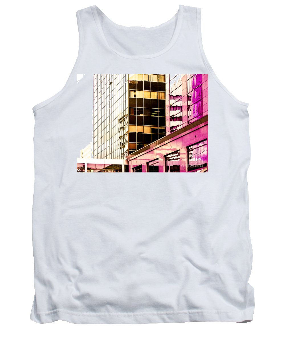 Reflections Tank Top featuring the photograph City Center -18 by David Fabian