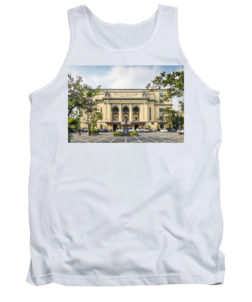 Architecture Tank Top featuring the photograph City Hall In Manila Philippines by Jacek Malipan