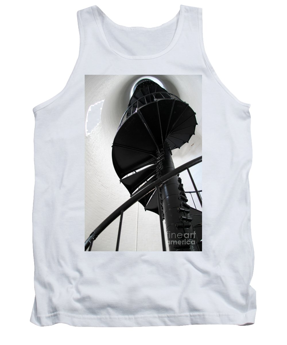 Lighhouse Stairs Tank Top featuring the photograph Climb Up To The Sky by Christiane Schulze Art And Photography