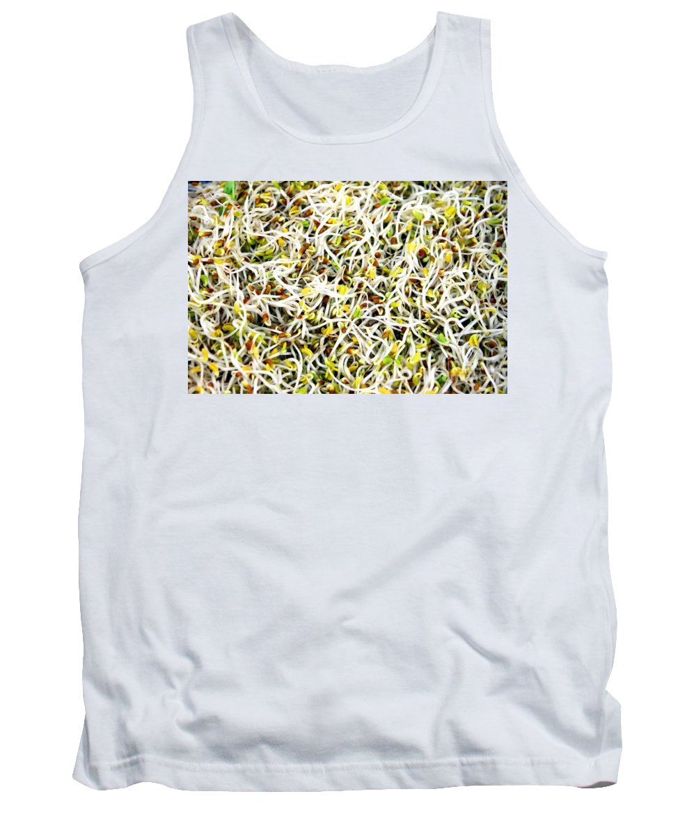 Green Tank Top featuring the photograph Clover Sprouts by Henrik Lehnerer