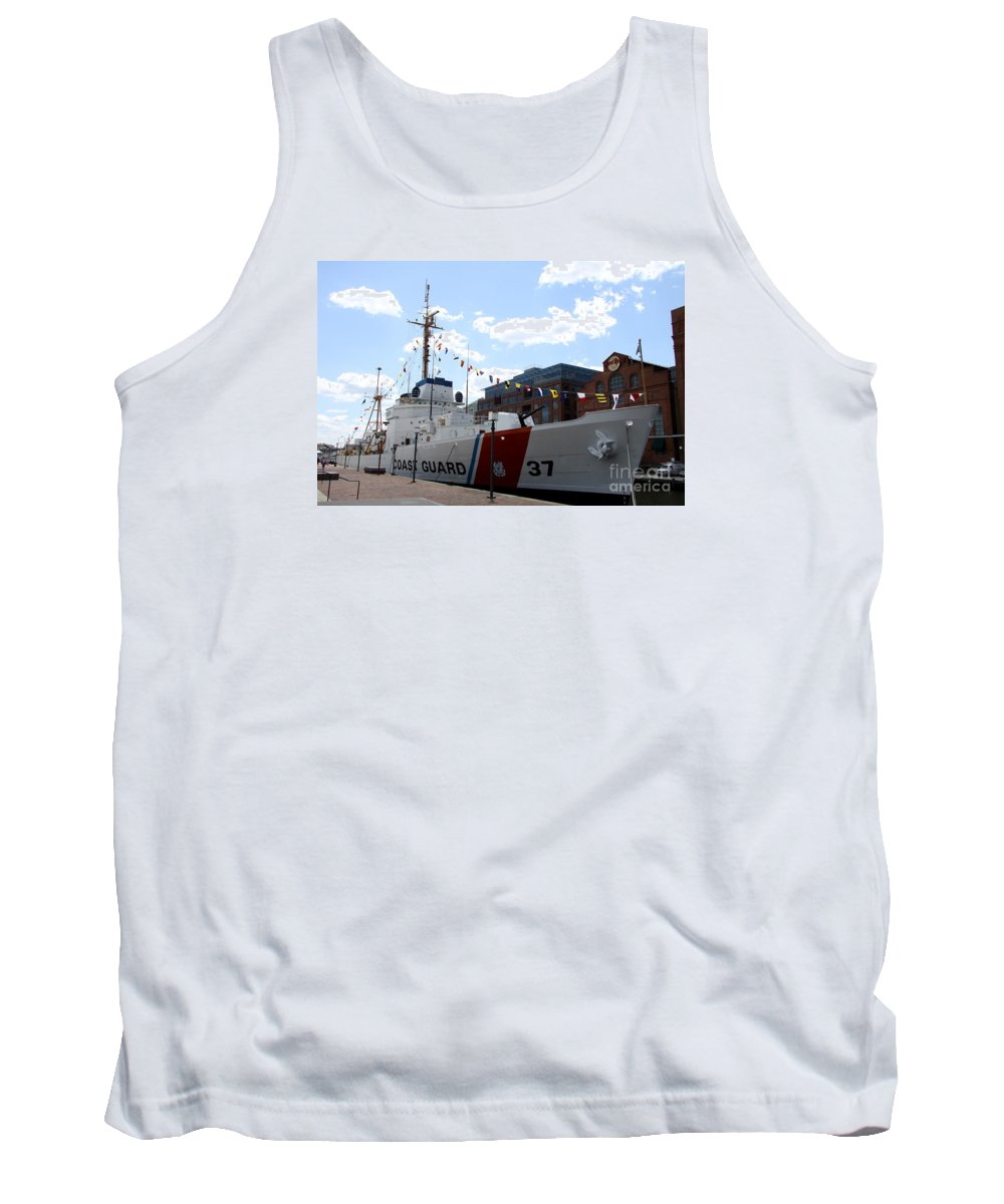 Coast Guard Tank Top featuring the photograph Coast Guard 37 by Christiane Schulze Art And Photography
