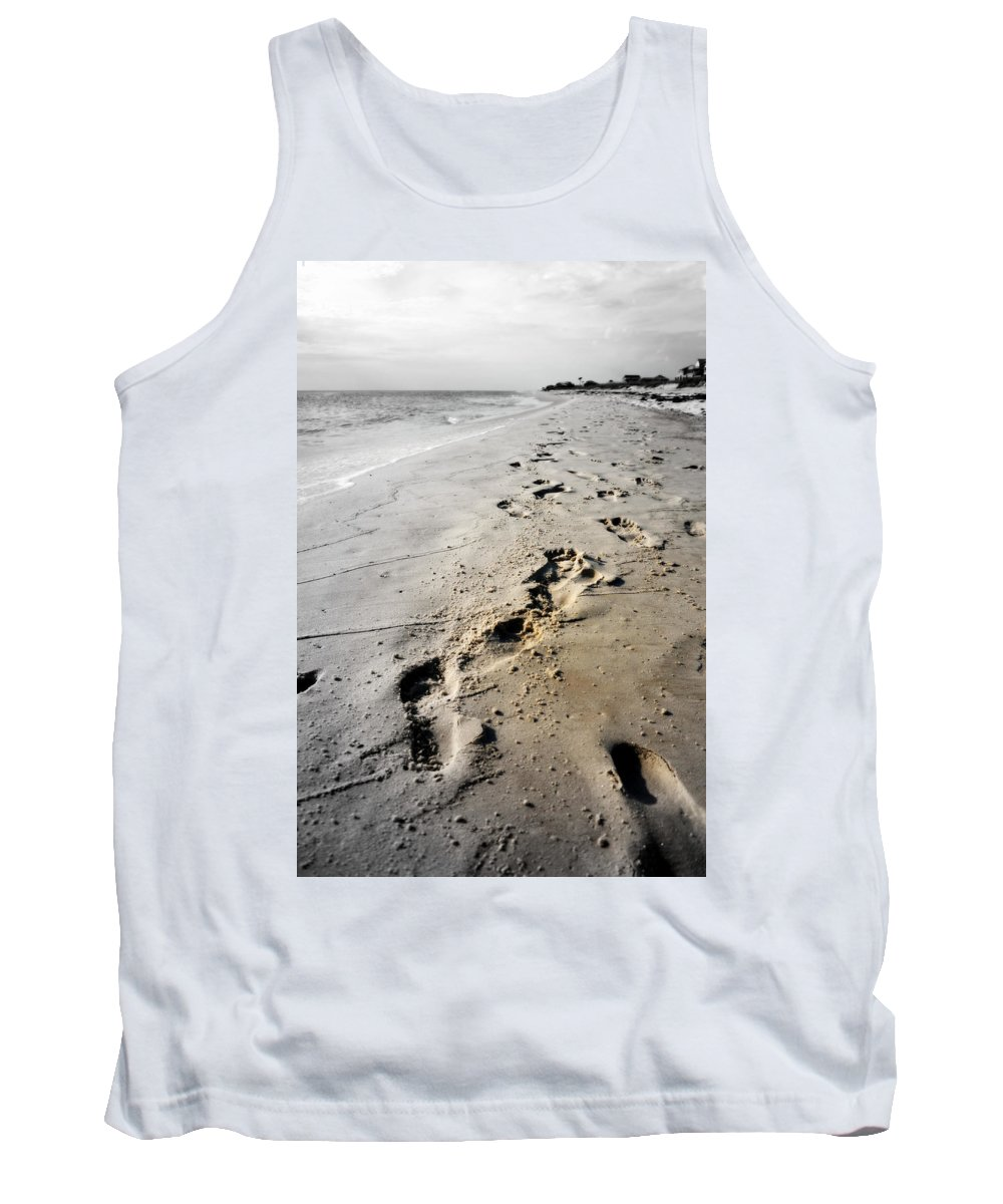 Digital Photograph Tank Top featuring the photograph Coastal Walks by Laurie Pike
