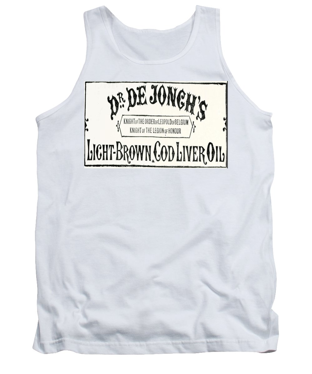 Dr. De Jonch's Tank Top featuring the digital art Cod Liver Oil by Cathy Anderson