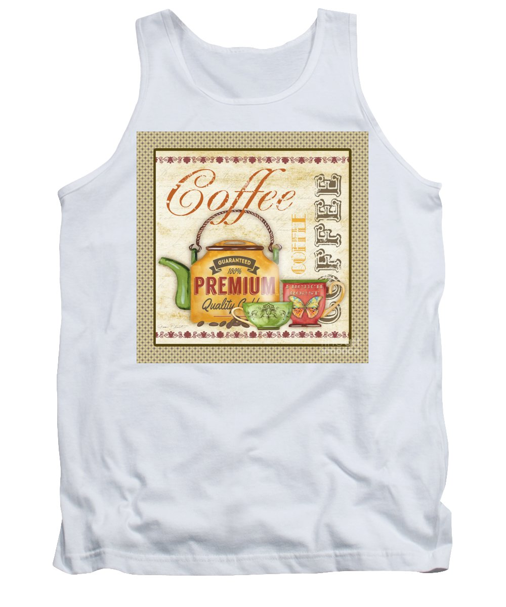 Digital Art Tank Top featuring the digital art Coffee-jp2573 by Jean Plout