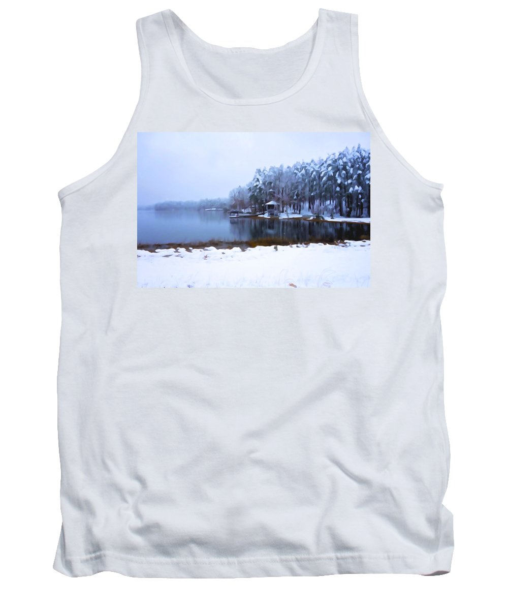 Winter Tank Top featuring the photograph Cold Feet - A Winter Landscape by Charlie and Norma Brock