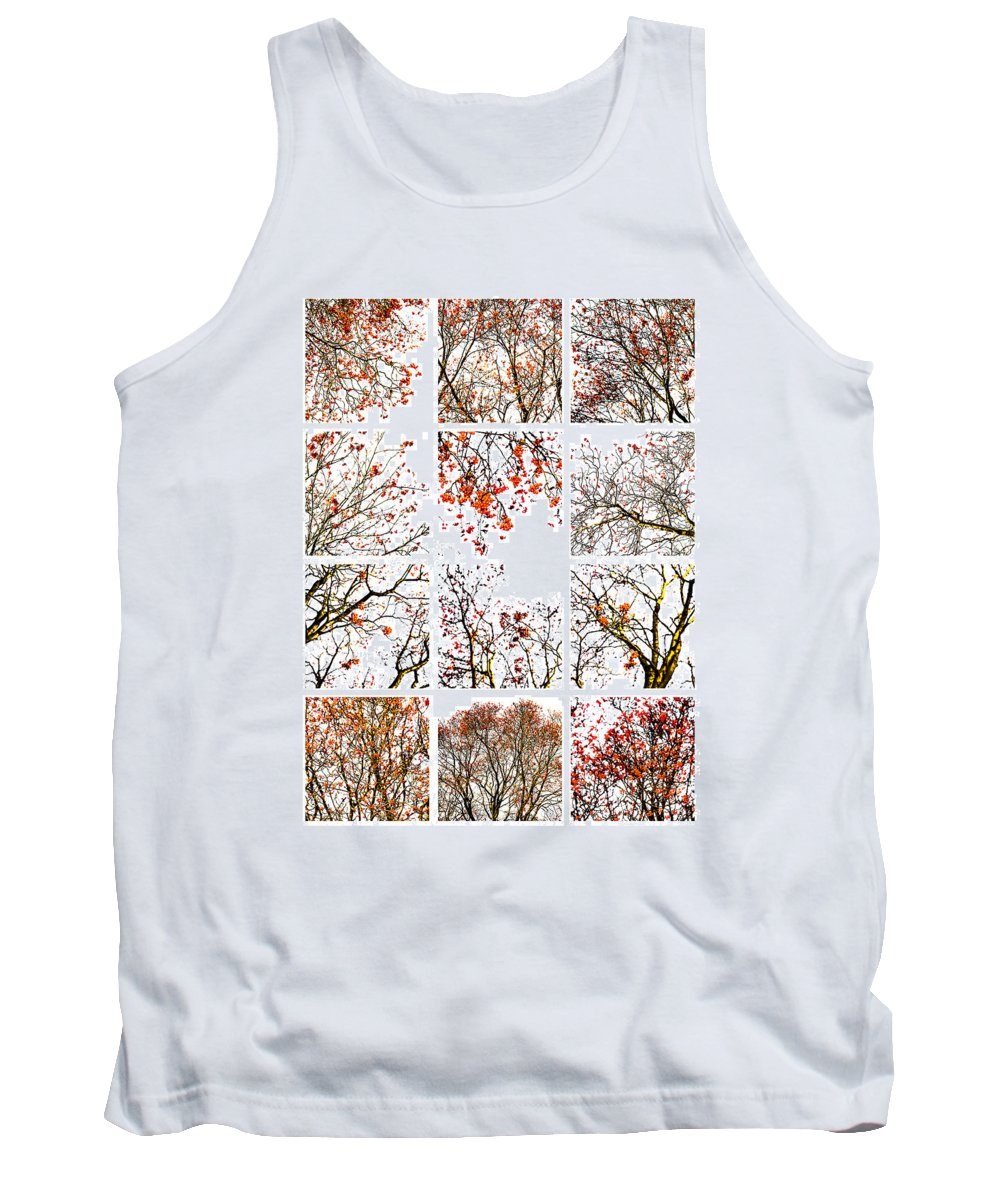 Abstract Tank Top featuring the photograph Collage The Beauty Of Rowan by Alexander Senin