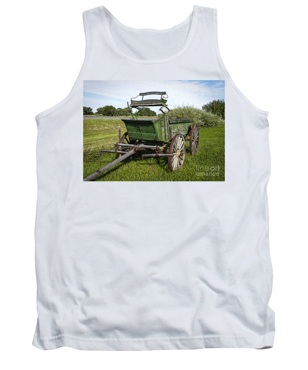 Wagon Tank Top featuring the photograph Colorado Western Transportation by Janice Pariza