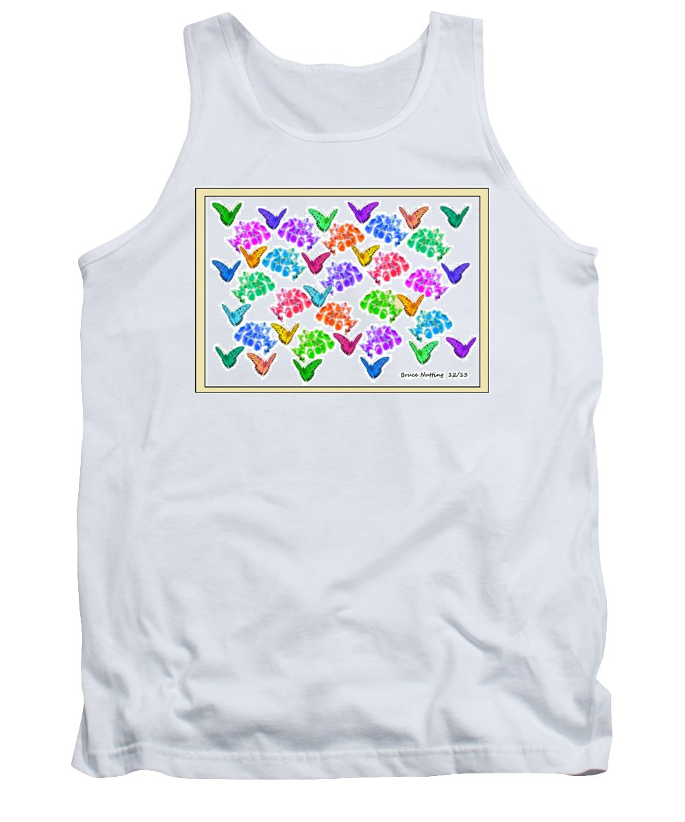 Butterflies Tank Top featuring the painting Colorful Butterflies by Bruce Nutting