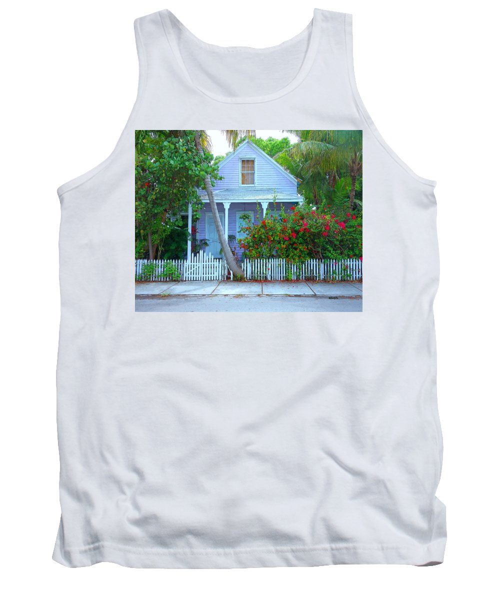 Rebecca Korpita Tank Top featuring the photograph Colorful Key West Cottage by Rebecca Korpita