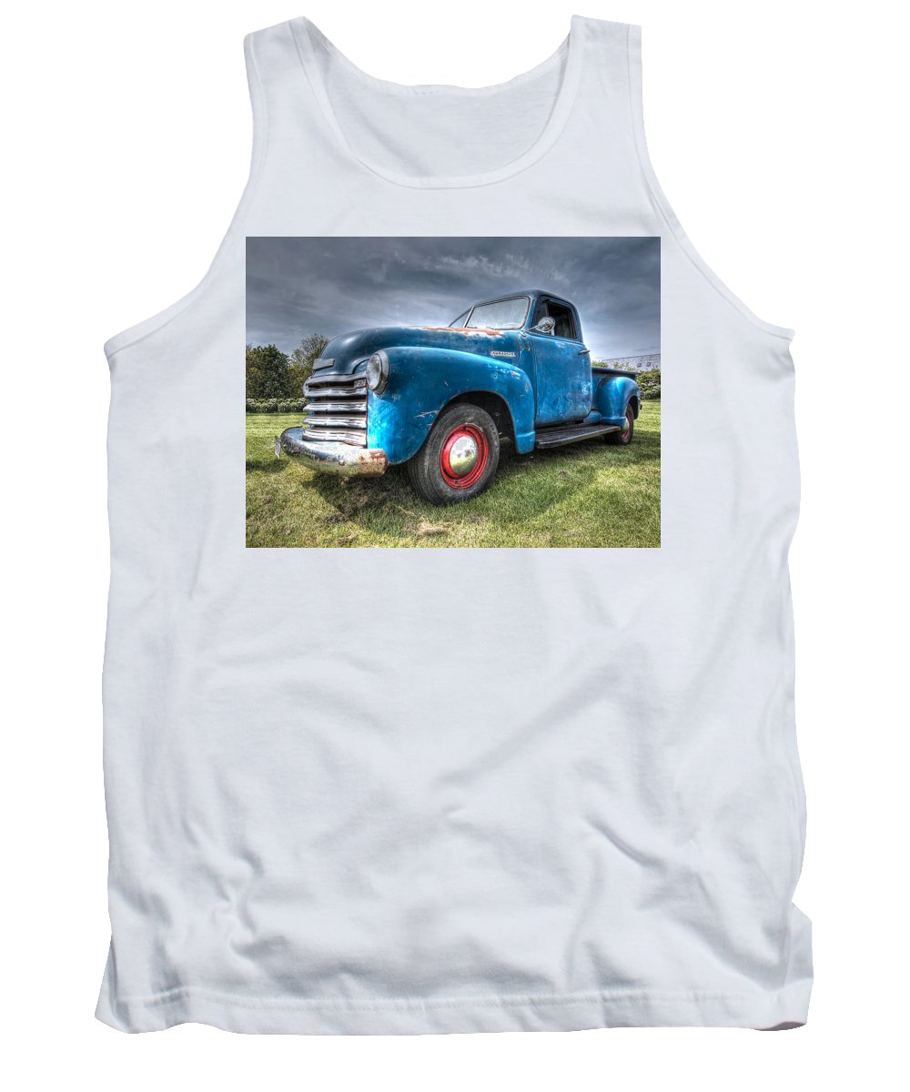 Chevrolet Truck Tank Top featuring the photograph Colorful Workhorse - 1953 Chevy Truck by Gill Billington