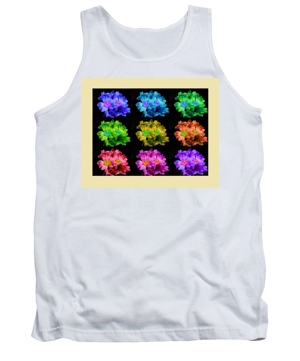 Color Tank Top featuring the painting Colors Of Cactuses by Bruce Nutting