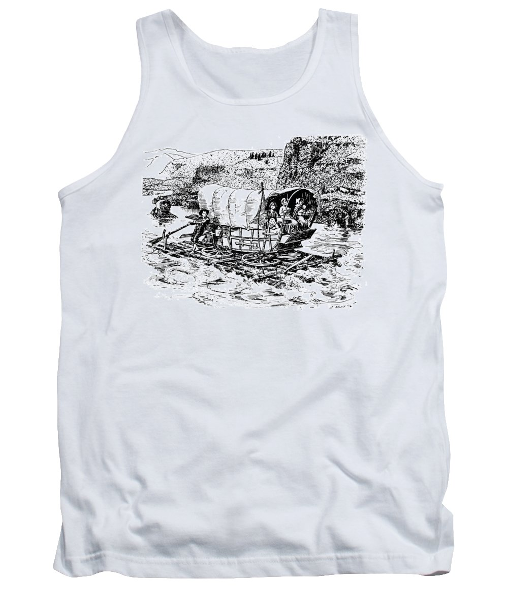 19th Century Tank Top featuring the drawing Columbia River by Granger