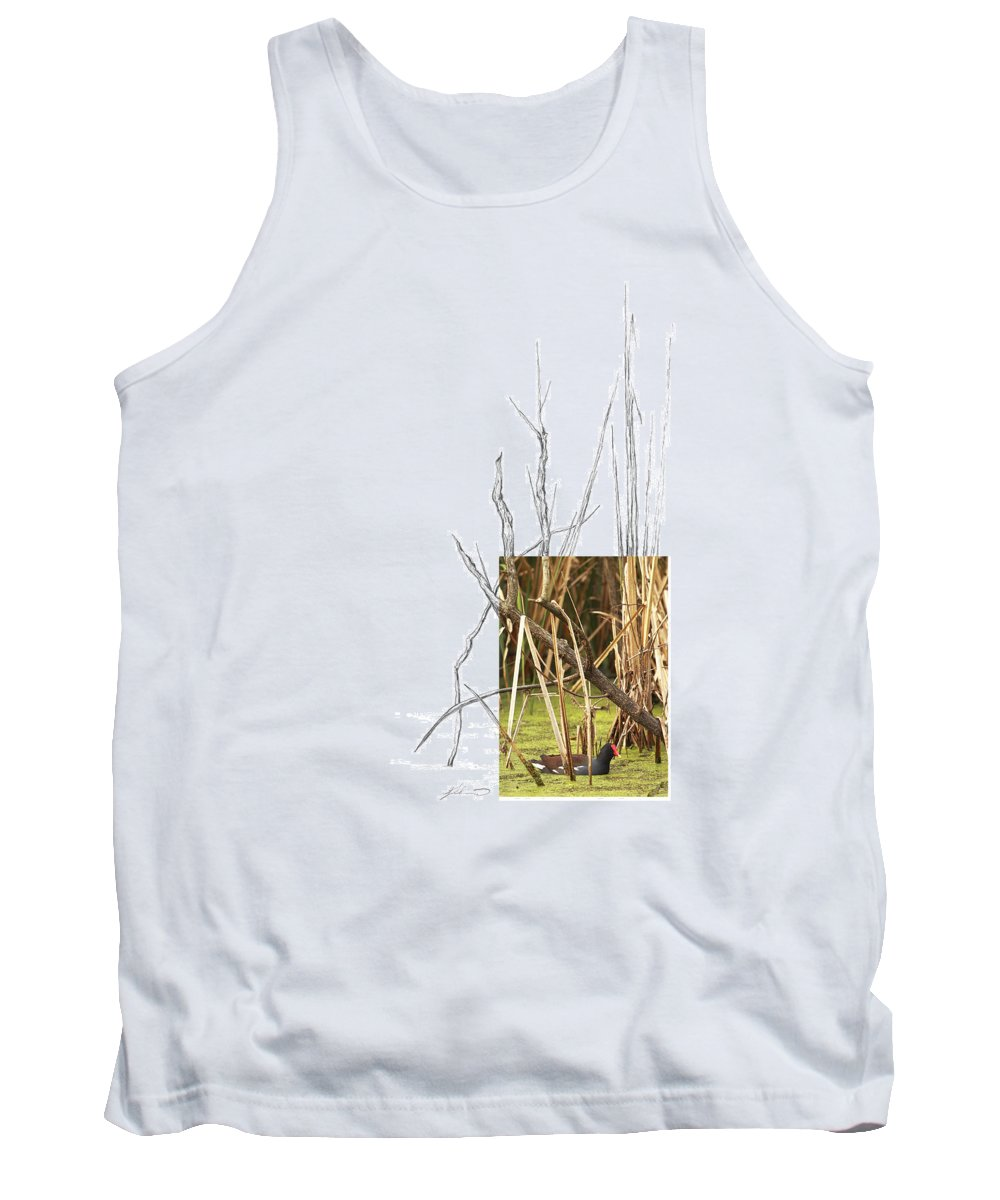 Common Moorhen Tank Top featuring the photograph Common Moorhen by Andrew McInnes
