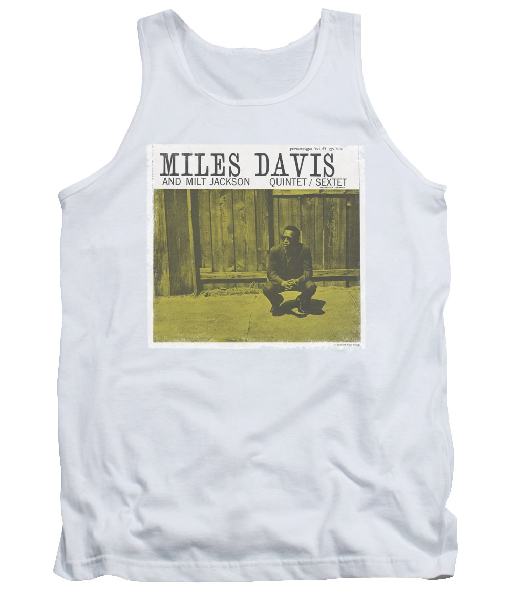 Miles Davis Tank Top featuring the digital art Concord Music - Miles And Milt by Brand A