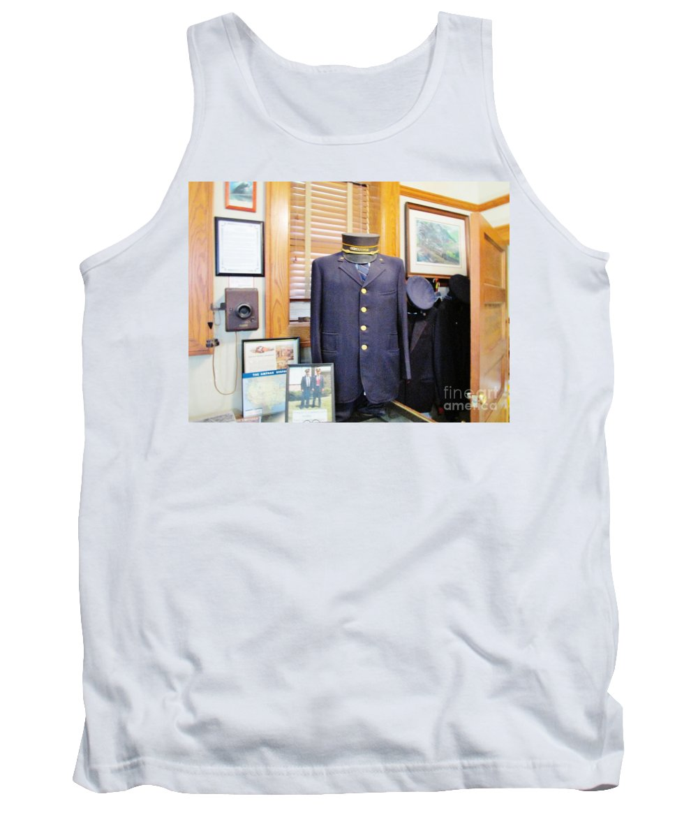 Train Conductor Tank Top featuring the photograph Conductor by Don Baker
