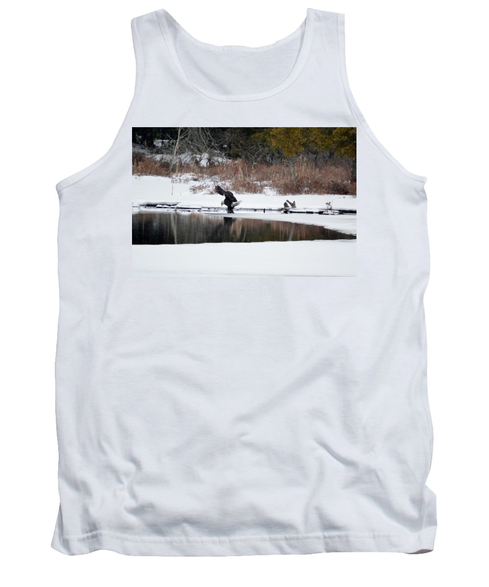 Bald Eagle Tank Top featuring the photograph Contact With The Earth 2 by Thomas Phillips