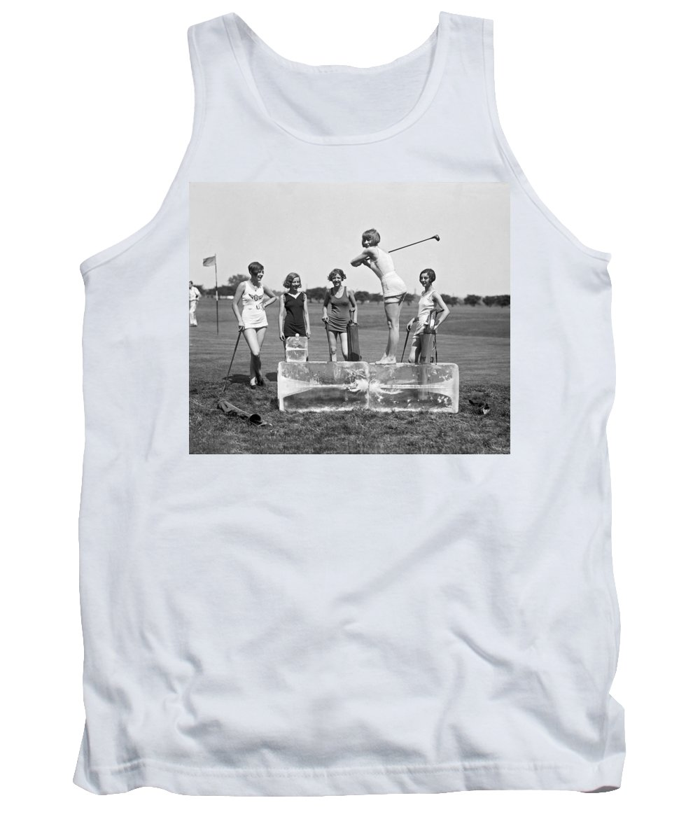 1920s Tank Top featuring the photograph Cool Tee Time by Underwood Archives