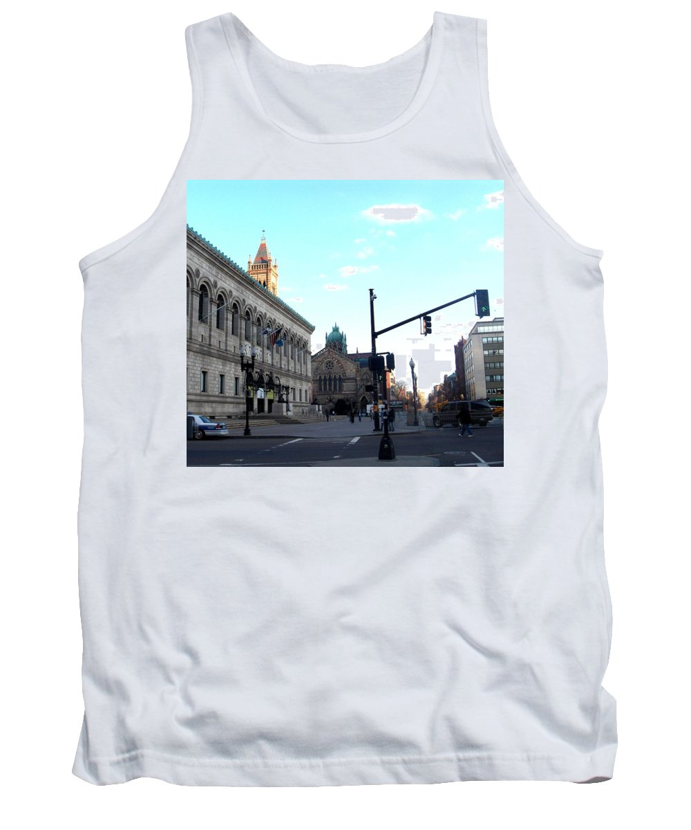 Copley Square Tank Top featuring the photograph Copley Square - Old South Church by Marcello Cicchini