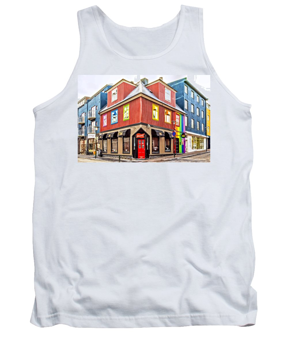 Architecture Tank Top featuring the photograph Bravo by Maria Coulson