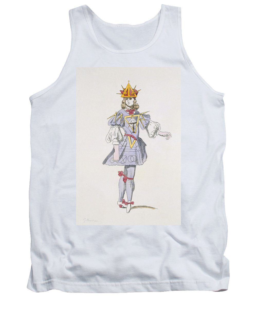 Baroque Tank Top featuring the drawing Costume Design For Geometry In A 17th by French School