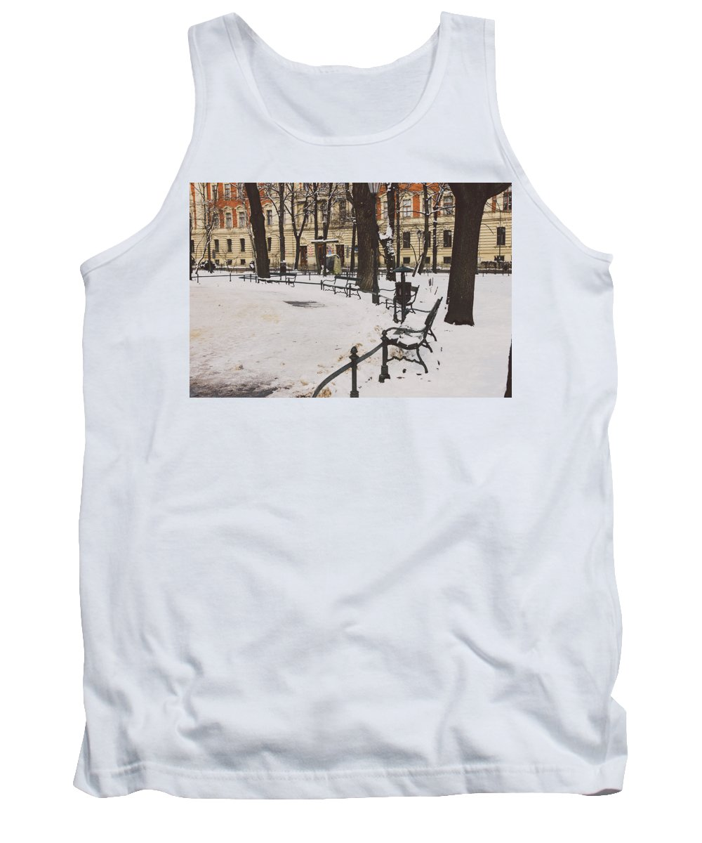 Background Tank Top featuring the photograph Cracow Park by Pati Photography