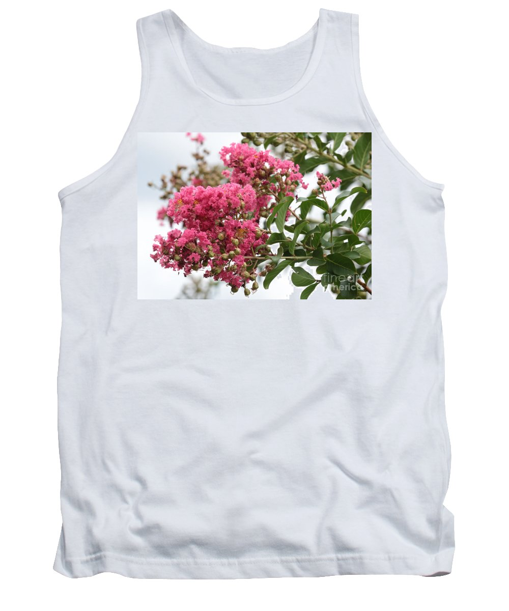 Crepe Myrtle Tank Top featuring the photograph Crazy For Crepe Myrtles by Carol Groenen