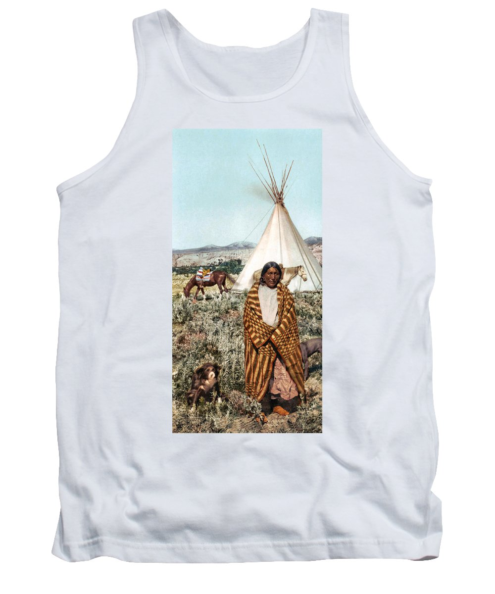 Crow Indian 1902 Tank Top featuring the photograph Crow Indian 1902 by Unknown