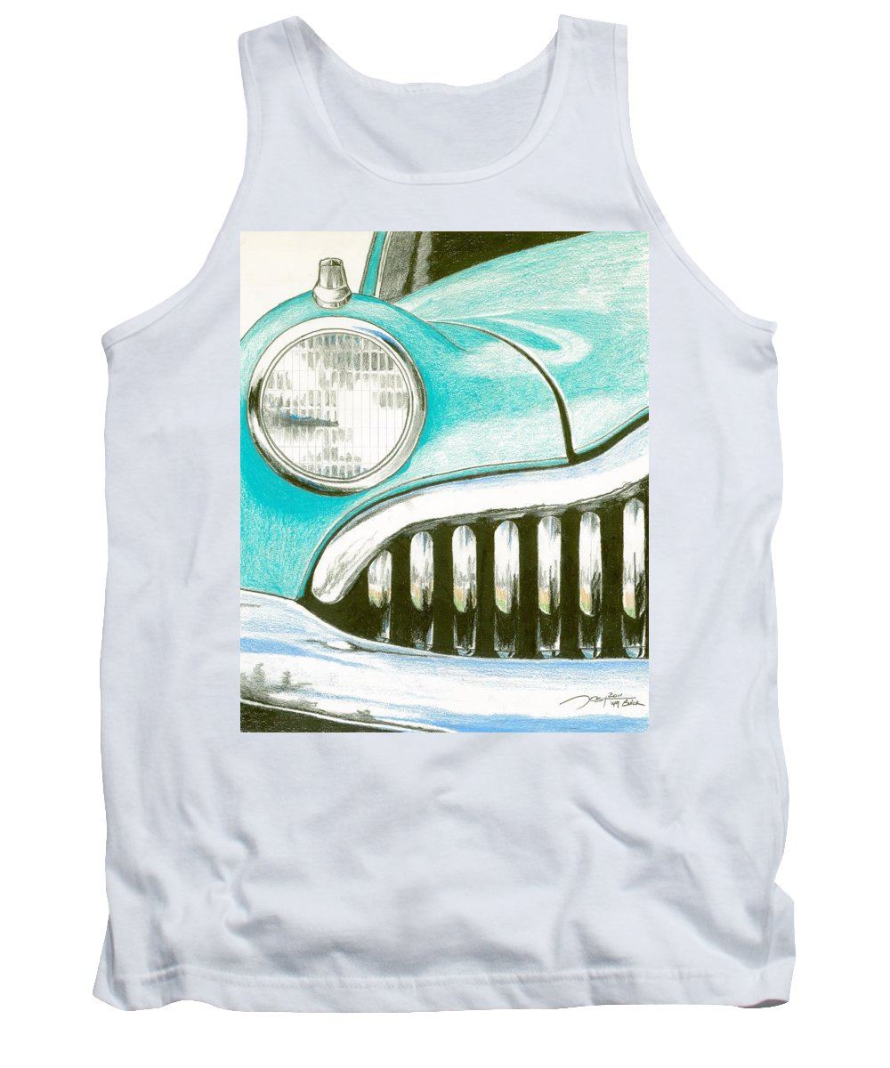Cruiser Tank Top featuring the drawing Cruiser by Rick Yost