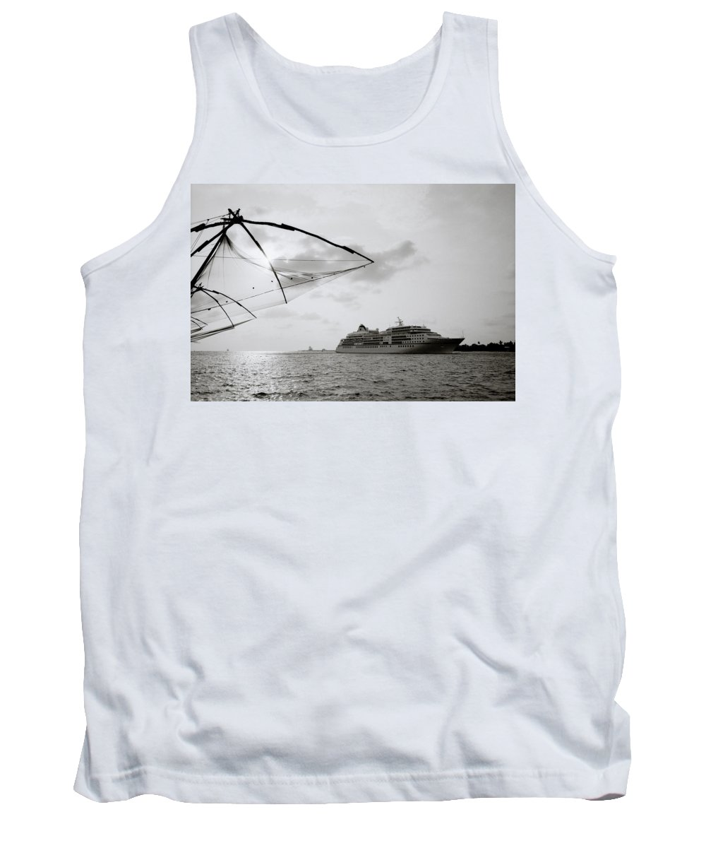 Chinese Tank Top featuring the photograph Cruising Into Cochin by Shaun Higson