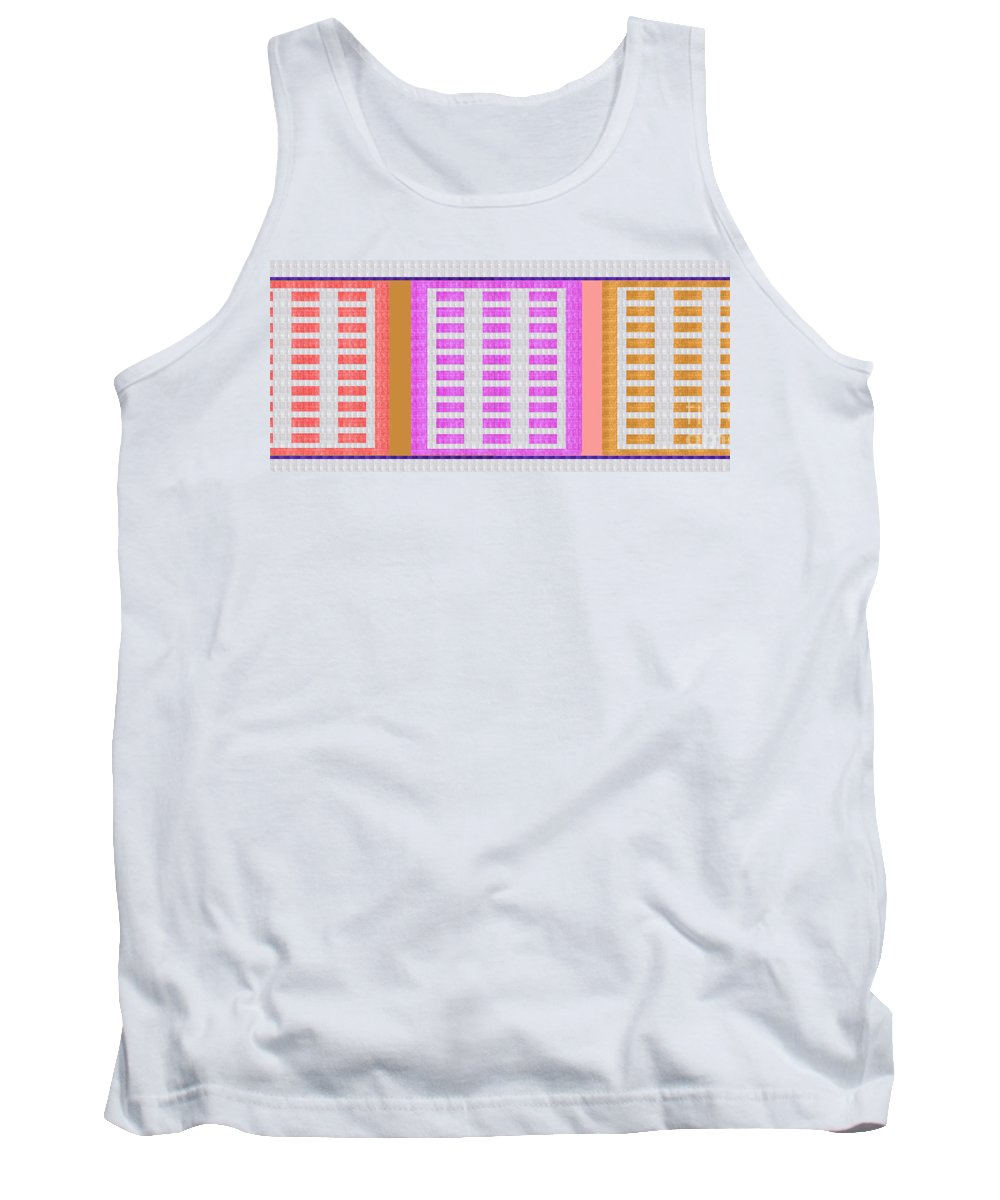 Crystal Plates Tank Top featuring the painting Crystal Stone Healing Energy Plates Navinjoshi Rights Managed Images For Download Adver by Navin Joshi