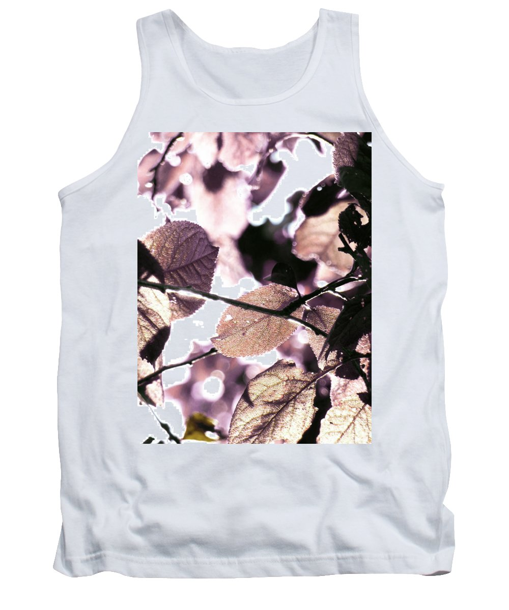 Mauve Tank Top featuring the photograph Crystalline  by Steve Taylor