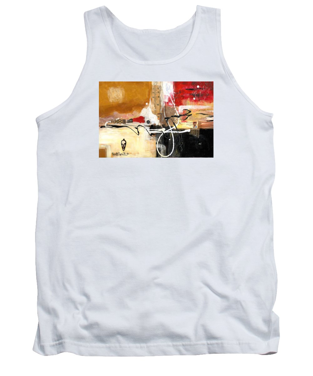 Everett Spruill Tank Top featuring the painting Cultural Abstractions - Hattie McDaniels by Everett Spruill