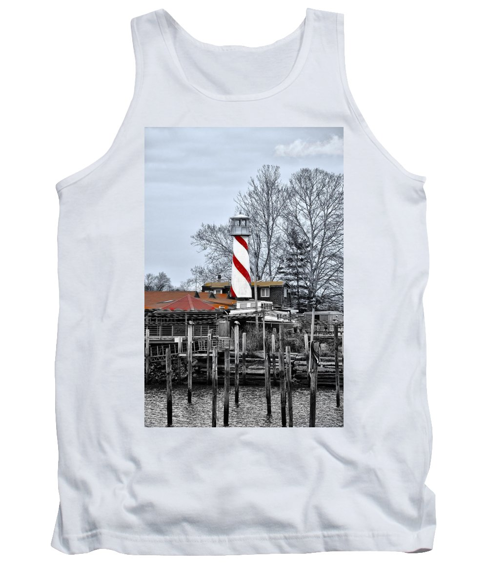 Curtin's Tank Top featuring the photograph Curtin's Wharf Burlington New Jersey by Bill Cannon