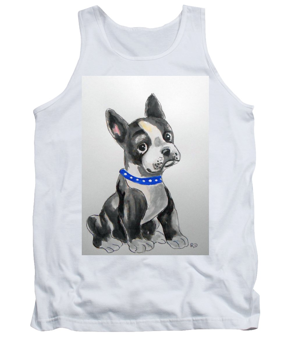 Boston Terrier Tank Top featuring the painting Boston Terrier Wall Art by Rita Drolet
