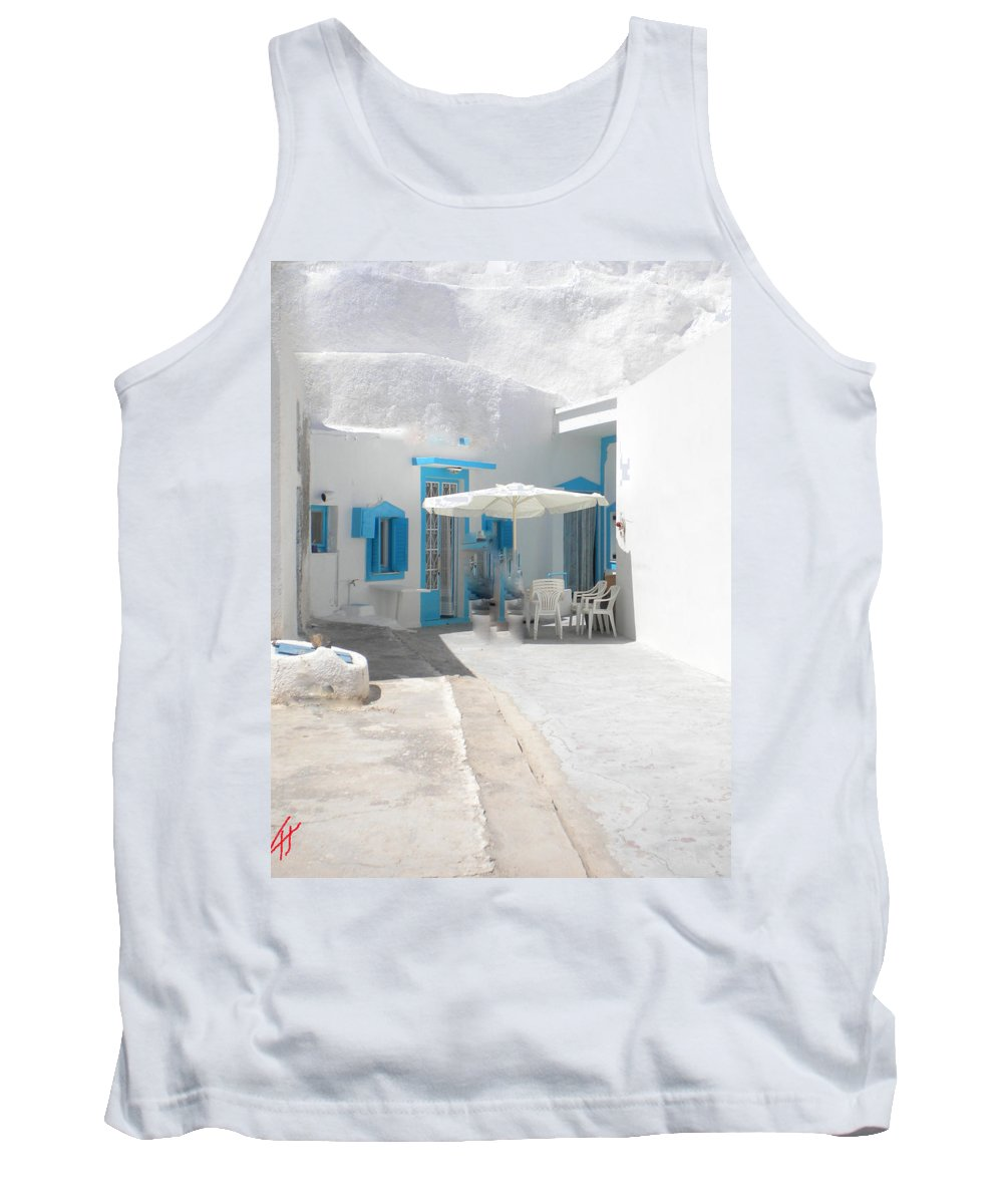 Colette Tank Top featuring the photograph Cute Santorini Island Hause by Colette V Hera Guggenheim