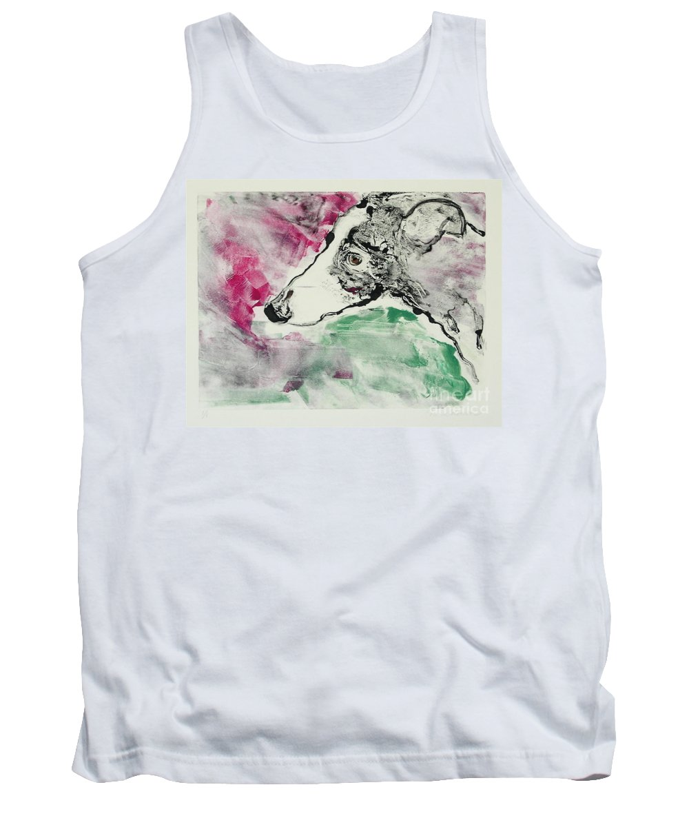 Greyhound Tank Top featuring the painting Cyrus by Cori Solomon