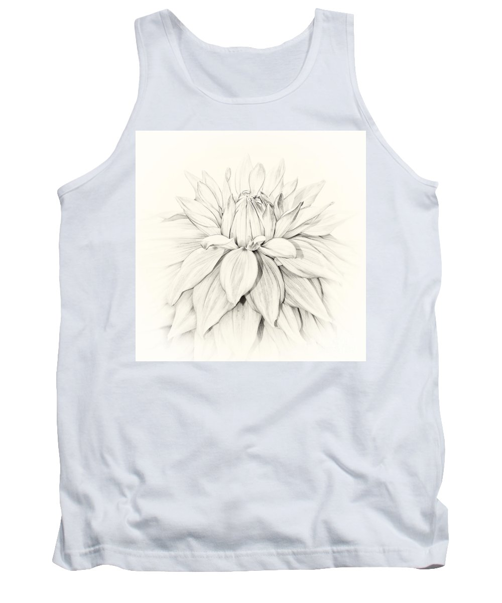 2014 Tank Top featuring the photograph Dahlia 3 by Janet Burdon