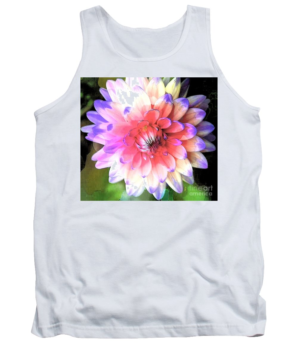 Dahlia Tank Top featuring the photograph Dahlia Effect by Kathleen Struckle