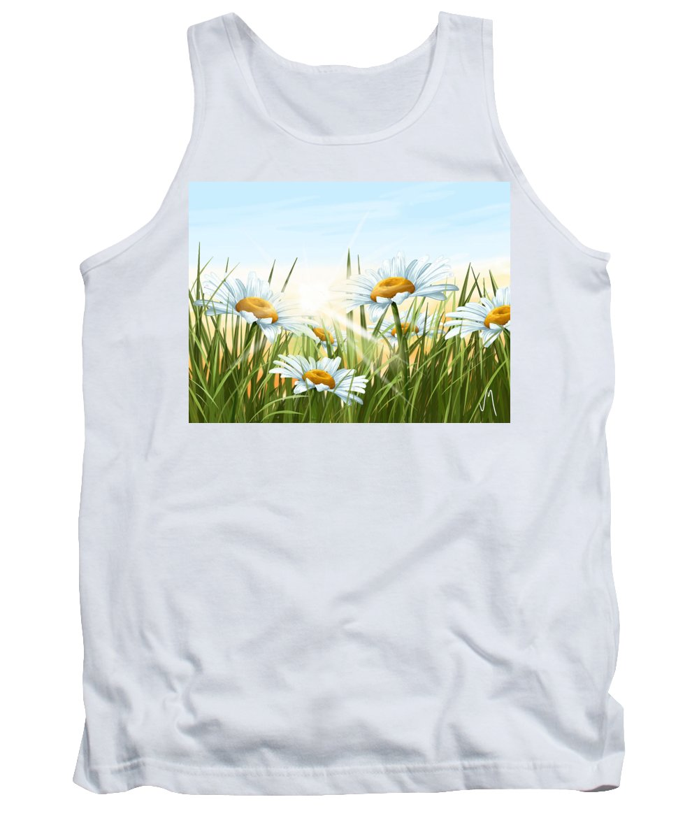 Flowers Tank Top featuring the painting Daisies by Veronica Minozzi