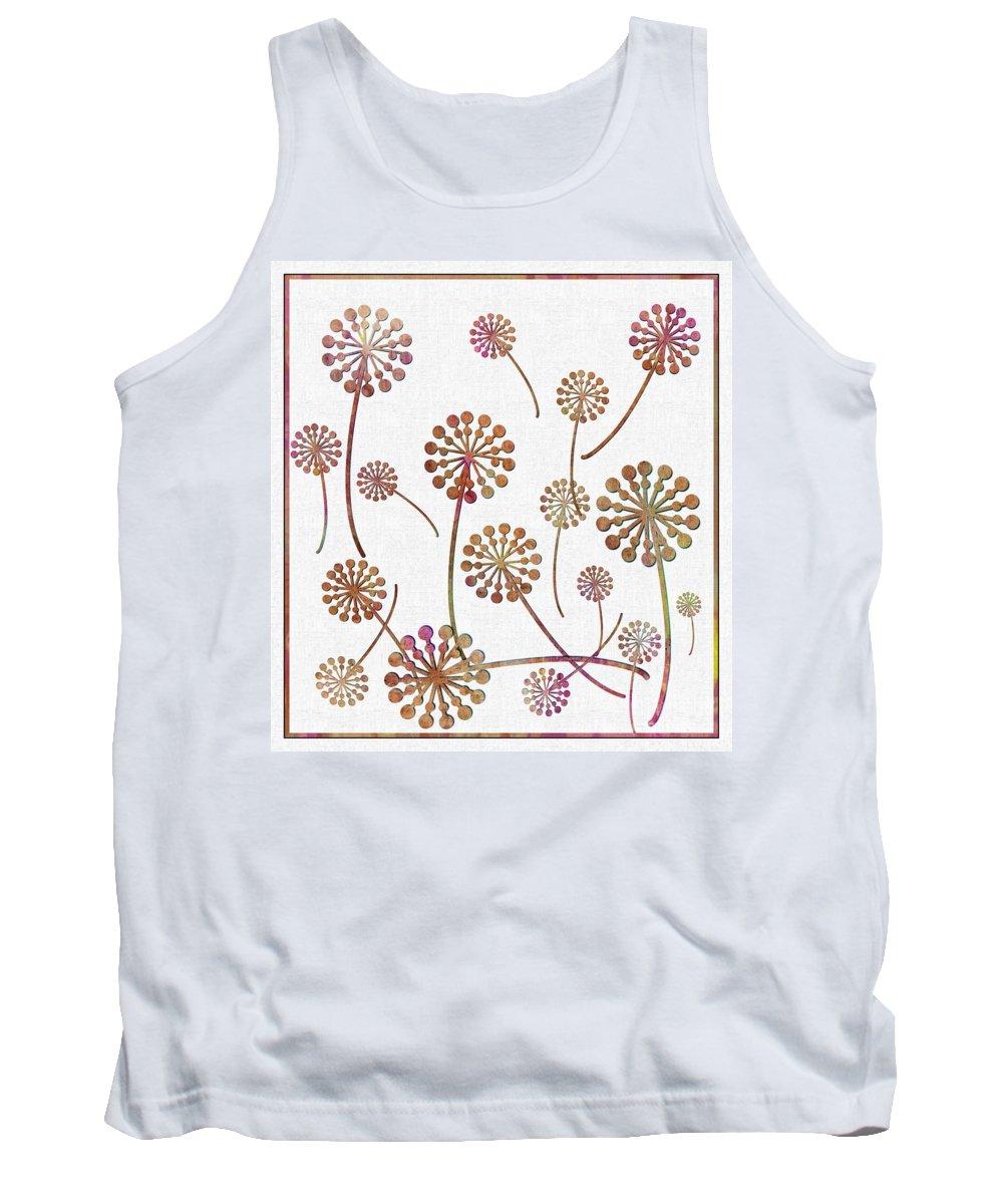 Dandelion Seeds Tank Top featuring the digital art Dandelion Seeds by Barbara Griffin